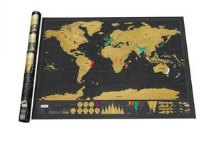Deluxe Black Scratch Off World Map $19.82