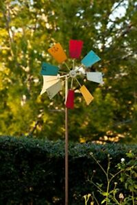 Windmill Stake Metal Garden Decor Spinner Wind Yard Lawn Outdoor Multicolor New $33.26