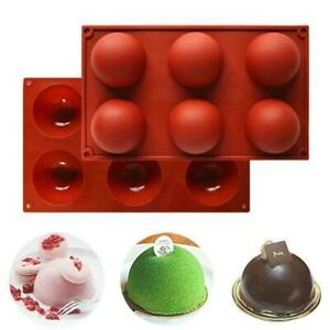 ONE 6 Hole Semi Sphere Round Silicone Mold Hot Chocolate Bombs Cake Baking Mould $9.77