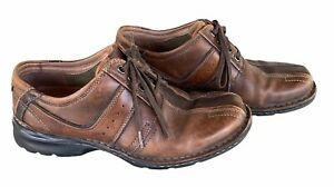 Clarks Oxfords Mens Shoes Brown Leather Lace Up Casual Excellent Condition 9.5 M $24.99