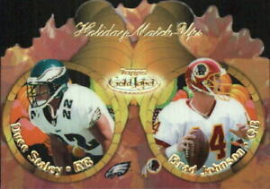 2000 Topps Gold Label Holiday Match Ups Fall Football Card #T11B Staley Johnson