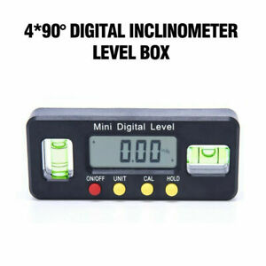 Automatic Digital Protractor Inclinometer Angle Finder Level Box Gauge 4x90° $14.52