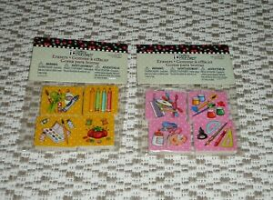 Mary Engelbreit Pencil Erasers 8 Art Crafts Paint Pencils Sewing Designs $6.99