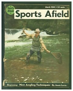 Vintage March 1945 Sports Afield Fishing Cover
