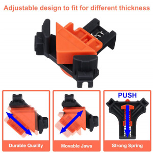 Corner Clamp Kit Angle Right Woodworking Hand Holder Frame Degree Clip 90° $18.99