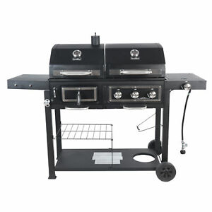 RevoAce Dual Fuel Gas amp; Charcoal Combo Grill Black with Stainless $214.95