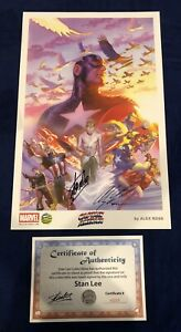 Captain America Alex Ross Print Signed by Stan Lee w COA amp; Alex Ross ONLY 200 $250.00