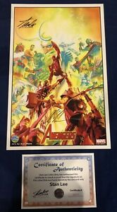 The Avengers Alex Ross Print Signed by Stan Lee w COA amp; Alex Ross ONLY 200 $250.00