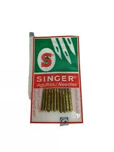 10 SINGER Sewing Needles 2045 Strength 100 16 Jersey Fabrics 2 Bobbin Free $5.97