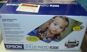 New Epson Stylus Photo R300 Ink Jet Printer w Direct DVD CD Printing $194.99