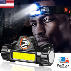 Super Bright LED Headlamp Rechargeable Head Light Flashlight Camping Waterproof $11.21