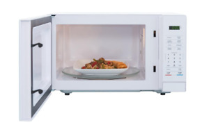 Countertop Microwave 1.1 cu ft 5 Preprogrammed 1 Touch Cooking Child Safety Lock $57.99