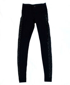 Lululemon Wunder Under Black Aztec Print Full Length Leggings Size 2 $39.99