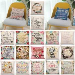 18#x27;#x27; Vintage Cushion Cover Throw Pillow Case Cotton Linen Sofa Waist Home Decor $4.99
