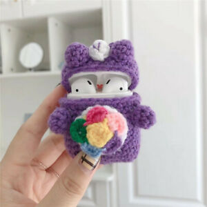 Rainbow Bear Knitted Knitting Case for Airpods Wireless Bluetooth Earphone AU $19.99