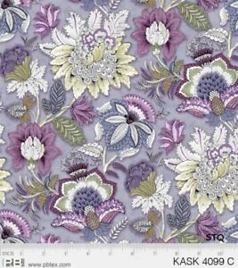 Kashmir Kaleidoscope Floral BTY cotton quilt fabric by Pamp;B 4099 C