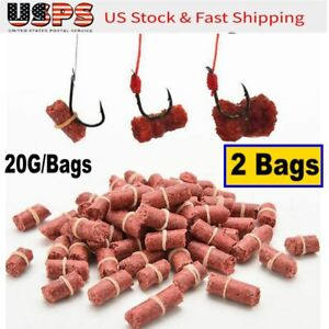 100pcs Fitting Grass Carp Bait Fishing Lures Fishy Smell Fishing Accessories Red