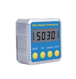 Digital Angle Cube Gage Electronic Gauge Sea Level Protractor Magnetic Base NEW $30.80