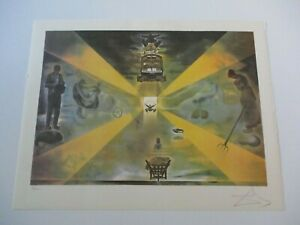 FINEST SALVADOR DALI LITHOGRAPH ABSTRACT EXPRESSIONISM SURREAL MODERNISM SIGNED $1089.00