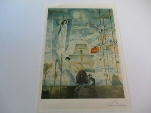 FINEST SALVADOR DALI LITHOGRAPH ABSTRACT EXPRESSIONISM SURREAL MODERNISM SIGNED $1485.00