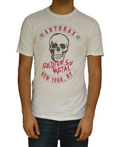 Anthrax quot;Soldiers of Metalquot; t shirt by Chaser Brand 80#x27;s 90#x27;s Rock band Tee $34.99