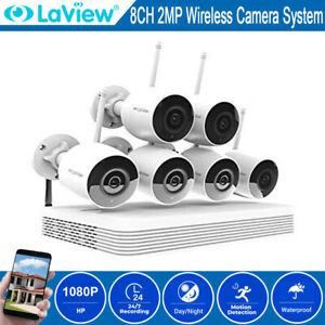 1080P HD Security Camera System Wireless Outdoor Home WiFi NVR CCTV Kit 1TB HDD