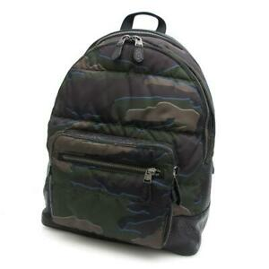 Coach Camouflage Nylon Waist Backpack F31319 A Rank Second Hand