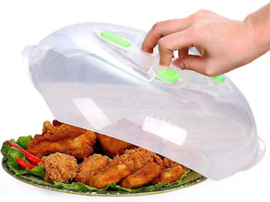 Microwave Food Plate Cover No Mess Anti Splatter Lid w Steam Vents 11.6 inch