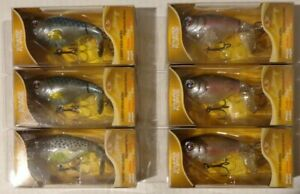 Lot of 6 New Assorted River2Sea Whopper Plopper 75 Topwater Fishing Lures WPL75