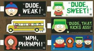 South Park Bumper Stickers 1998 FREE US Postage Set of 6 with Bus  $5.99