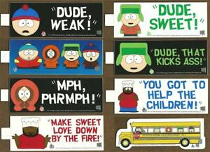 South Park Bumper Stickers 1998 FREE US Postage Set of 8 with School Bus  $7.99