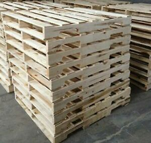 Recycled Wood Pallet 48quot; x 40quot; 4 Way Wood Pallets Used Once $12.00