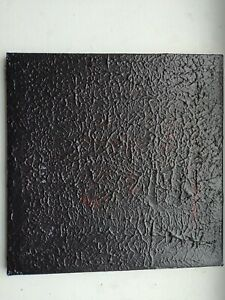Modern Contemporary Abstract Black White Red painting Industrial Devil#x27;s forest $22.00