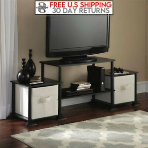 TV Stand Entertainment Center Media Console Furniture Wood Storage Cabinet Black $47.99