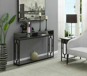 Console Table Narrow Entry Sofa Hall Display Shelves Living Room Furniture Wood $142.06