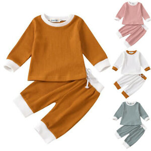Newborn Kids Baby Girls Outfits Clothes T Shirt Tops Long Pants Tracksuit Set $21.49