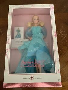 Barbie 2007 Most Collectible Doll Robert Best Designer Beautiful Blue Dress