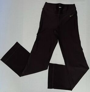 Nike Fit Dry Womens Brown Yoga Wide Leg Active Stretch Pants Legging Sz X Small $22.99