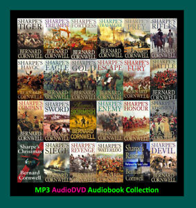 The RICHARD SHARPE Series By Bernard Cornwell 24 MP3 Audiobook Collection $29.90