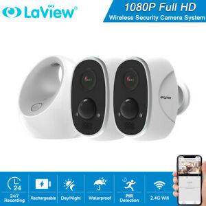 2x Wireless WiFi CCTV Camera HD 1080P Outdoor Home Security System Night Vision