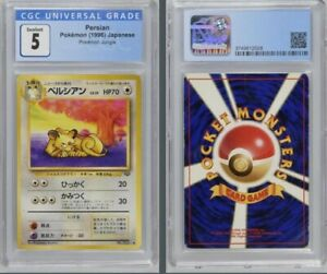 ���👤 Japanese Persion Meowth Jungle CGC Set ��👤� 1996 Pokemon Cards PSA $43.97