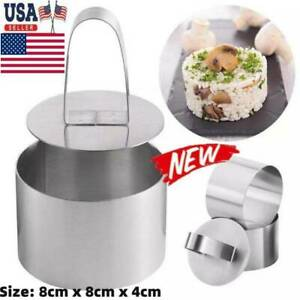 Round Mousse Mould Cake Steel Ring Pastry Mold Baking Tool US