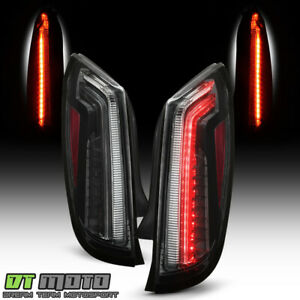 2013 2017 Cadillac XTS Black LED Tail Lights Brake Lamps Replacement LeftRight $549.86