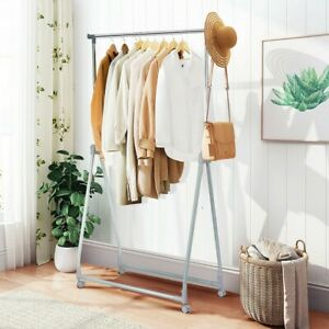 Extendable Foldable Heavy Duty Clothing Rack With Hanging Rod Closet Organizers $67.18
