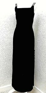 SUEL BEVERLY HILLS Womens Designer Evening Gown Medium Lined Black Wool LBD Sexy