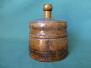 Antique Wooden Butter Mold or Stamp $25.00
