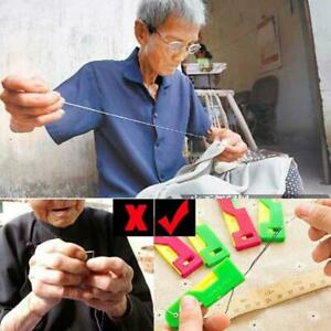 2Pcs set Elderly Use Automatic Easy Sewing Needle Device Threader Guide Tools $0.99