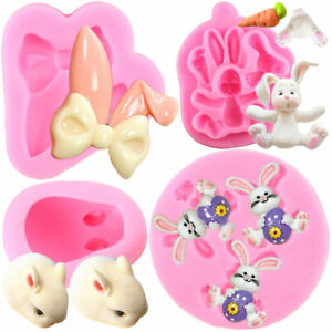Easter Rabbit Silicone Mold Bunny Ears Chocolate Fondant Cake Decorating Tools $6.90