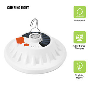Emergency LED Light Portable Solar USB Rechargeable camping lantern Lamp Outdoor