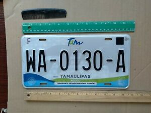 License Plate Mexico Tamaulipas WA 0130 A